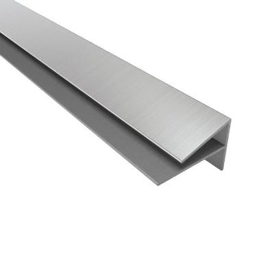 4 ft. Large Profile Outside Corner Trim in Brushed Nickel