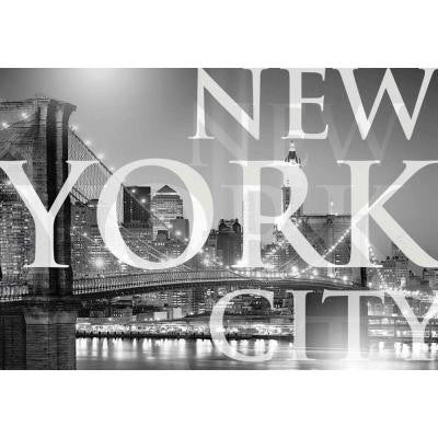 50 in. x 72 in. New York City Wall Mural