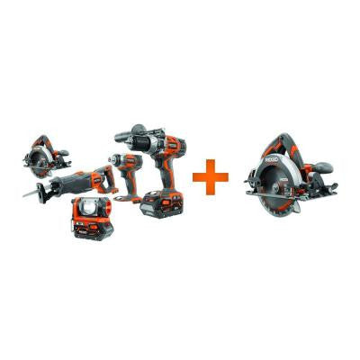X4 18-Volt Lithium-Ion Cordless Kit with Free Circular Saw Console (5-Piece)