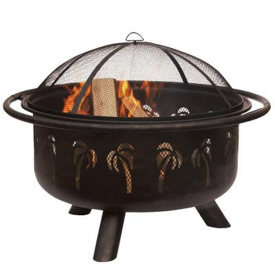 30 in. Deep Drawn Bronze Fire Pit