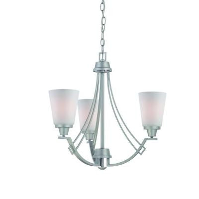 Wright 3-Light Matte Nickel Chandelier