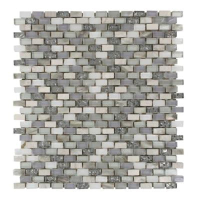 Paradox Puzzle 12 in. x 12 in. x 8 mm Mixed Materials Mosaic Floor and Wall Tile