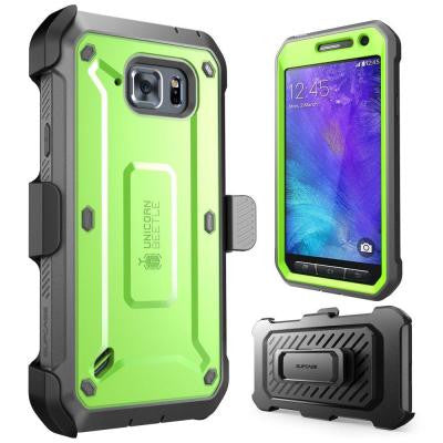 Galaxy S6 Active Unicorn Beetle Pro Full Body Case with Holster - Green