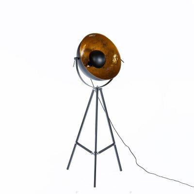 Fortune 65 in. Black Metal Floor Lamp with Adjustable Shade