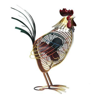 7 in. Figurine Fan-Rooster Country