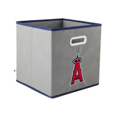 MLB STOREITS Los Angeles Angels 10-1/2 in. x 10-1/2 in. x 11 in. Grey Fabric Storage Drawer