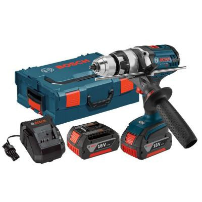 18-Volt Lithium-Ion Cordless 1/2 in. Brute Tough Hammer Drill/Driver with (2) 4.0Ah Batteries and L-Boxx2