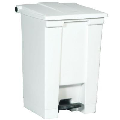 12 Gal. White Fire-Safe Step-On Trash Can