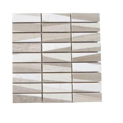 Great Bismarck 3 in. x 6 in. x 8 mm Marble Mosaic Floor and Wall Tile Sample