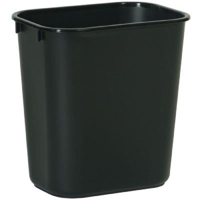3.25 Gal. Black Rectangular Trash Can