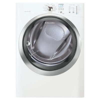 IQ-Touch 8.0 cu. ft. Electric Dryer with Steam in White