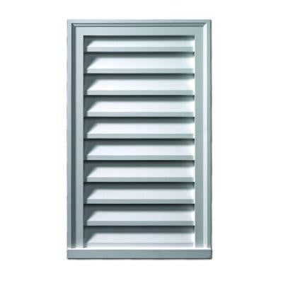 24 in. x 36 in. x 2 in. Polyurethane Decorative Vertical Louver