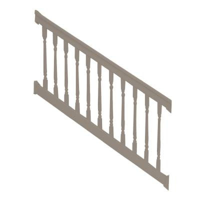 Delray 3.5 ft. x 72 in. Vinyl Khaki Stair Railing Kit