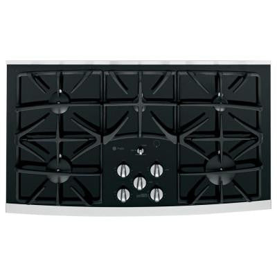Profile 36 in. Gas-on-Glass Gas Cooktop in Stainless Steel with 5 Burners including Power Boil Burner