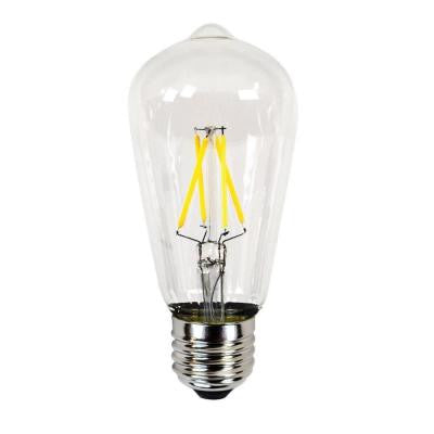 40W Equivalent Incandescent ST19 Dimmable LED Filament Light Bulb