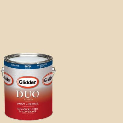 1-gal. #HDGO61 Parchment Satin Latex Interior Paint with Primer