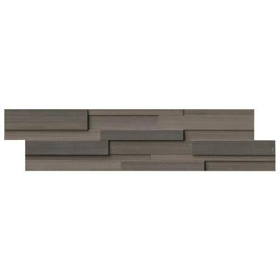 Brown Wave 3D Ledger Panel 6 in. x 24 in. Honed Travertine Wall Tile (10 cases / 60 sq. ft. / pallet)