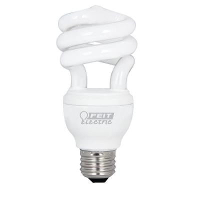 60W Equivalent Soft White (2700K) Spiral Dimmbale CFL Light Bulb (12-Pack)