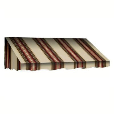 6 ft. San Francisco Window/Entry Awning Awning (18 in. H x 36 in. D) in Brown / White Stripe