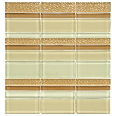 Tessera Meridian Stratus 11-3/4 in. x 12-1/4 in. x 8 mm Glass Mosaic Wall Tile