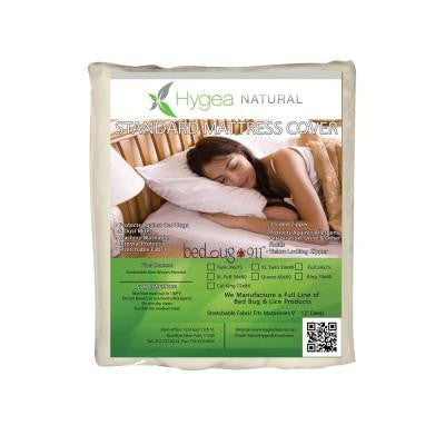 Standard Zippered Allergen & Dust Mites 9 in. D Queen Mattress or Box Springs Cover
