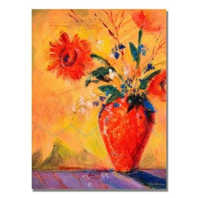 18 in. x 24 in. Fiesta Bouquet Canvas Art