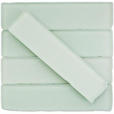 Ocean Mist Beached Frosted Glass Mosaic Tile - 2 in. x 8 in. Tile Sample