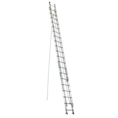 40 ft. Aluminum Extension Ladder with 250 lb. Load Capacity Type I Duty Rating
