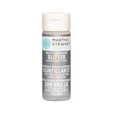 2-oz. Sterling Multi-Surface Glitter Acrylic Craft Paint