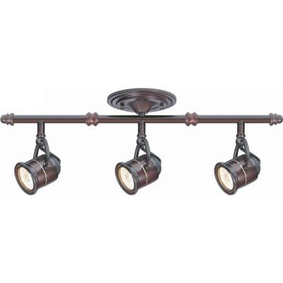 3-Light Antique Bronze Ceiling Bar Track Lighting Kit