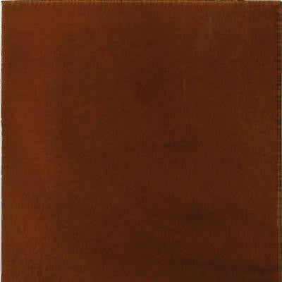 Hand-Painted Red Russet 6 in. x 6 in. x 6.35 mm Ceramic Wall Tile (2.5 sq. ft. / case)