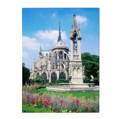 24 in. x 18 in. Notre Dame in Spring Canvas Art