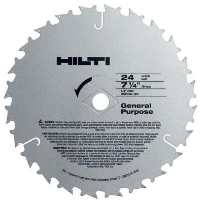 W-CSC 7-1/4 in. x 24 Tooth General Purpose Circular Saw Blades Contractor's (50-Pack)