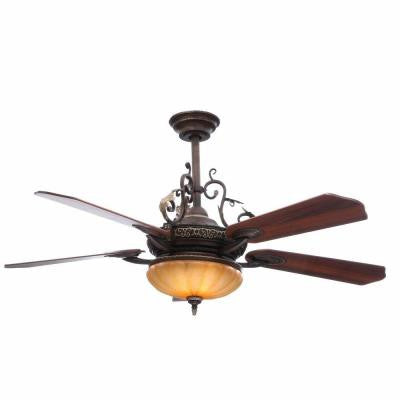 Chateau 52 in. de ville Walnut Ceiling Fan