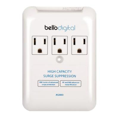 3-Outlet Appliance Surge Protector