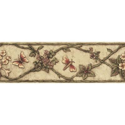 6.83 in. x 15 ft. Earth Tone Garden Ornament Border