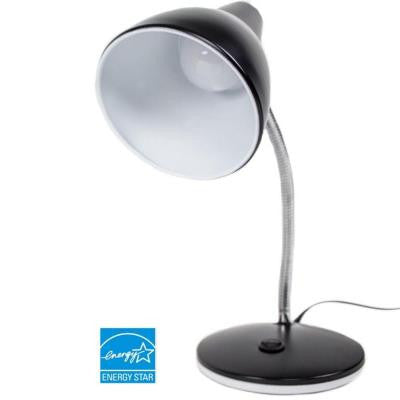 15.5 in. Black Classic Style LED Desk Lamp