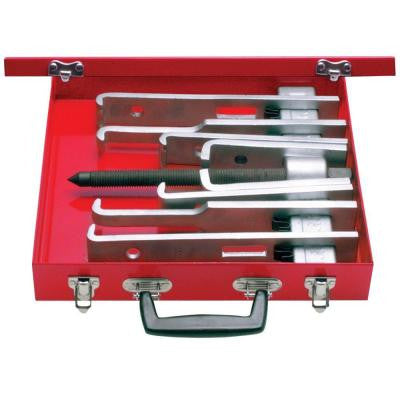 14 Piece Cased Set of 6 Ton 2 Arm Pullers With 8 Jaws