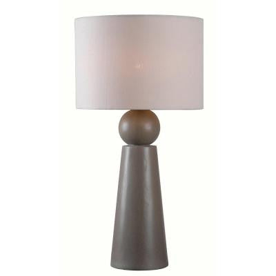 32 in. Dark Concrete Outdoor Parque Table Lamp