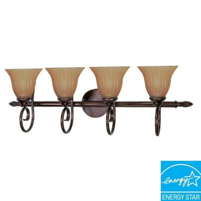 4-Light Copper Bronze Bath Vanity Light