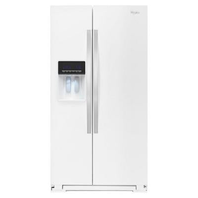 36 in. W 26 cu. ft. Side by Side Refrigerator in White Ice