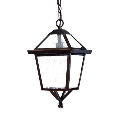 Bay Street Collection Hanging Outdoor 1-Light Architectural Bronze Light Fixture