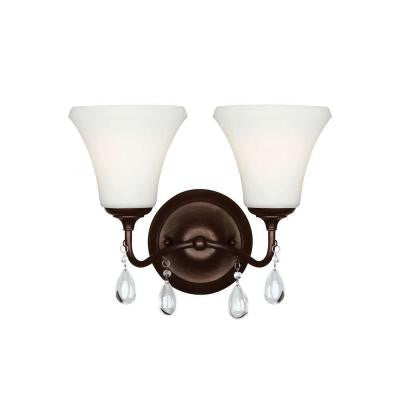 West Town 2-Light Burnt Sienna Wall Sconce