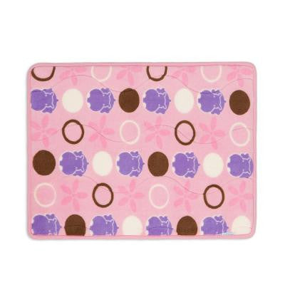 Hippo Pink 18 in. x 24 in. Memory Foam Bath Mat and Lid Cover Set