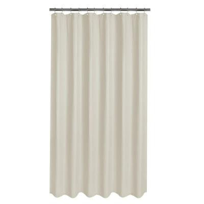 Luxury Spa Waffle Fabric Shower Curtain in Taupe