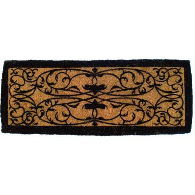 Iron Gate Border 36 in. x 72 in. Extra Thick Hand Woven Coir Door Mat