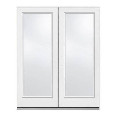72 in. x 80 in. Retro French Right-Hand Inswing 1 Lite Patio Door with Low-E Glass