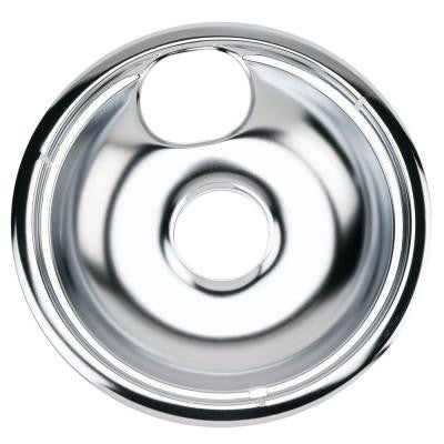 8 in. Chrome Drip Bowl for GE and Hotpoint Electric Ranges