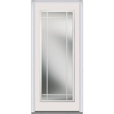36 in. x 80 in. Classic Clear Glass PIM Full Lite Painted Majestic Steel Prehung Front Door