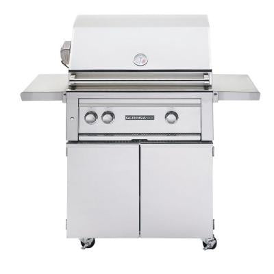 2-Burner Stainless Steel Propane Gas Grill with Rotisserie
